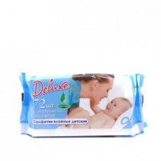 Влажные салфетки Deluxe детские с экстрактом алоэ вера, 72шт.