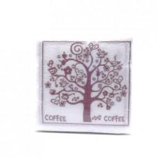 Бумажные салфетки Deluxe Кофе, 100шт.