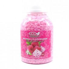 Соль для ванн Eco Terapy с пеной Малина со сливками, 1300г