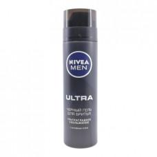 Гель для бритья Nivea Ultra черный, 200мл