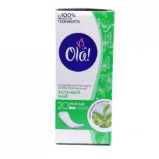 Прокладки  Ola! Daily ежедневные зеленый чай, 20шт.