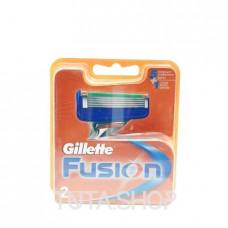 Кассеты сменные для бритья Gillette FUSION, 2шт.