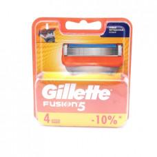 Кассеты сменные для бритья Gillette Fusion5, 4шт.
