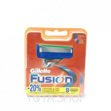 Картриджи сменные для бритья Gillette Fusion, 8шт