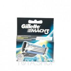 Кассеты сменные для бритья Gillette MACH3, 2шт