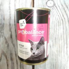 Корм Probalance Active для кошек ж/б 415 гр