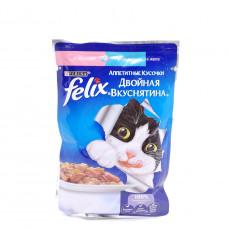 Корм Felix с лососью и форелью в желе 85 гр