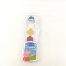Краски акварельные Свинка Пеппа 6 цветов 34044