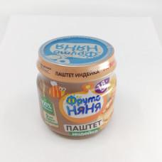 Паштет Фруто Няня индейка с печенью 18+, 80г