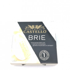 Сыр Camembert Castello Brie с белой плесенью 50 % 125гр уц