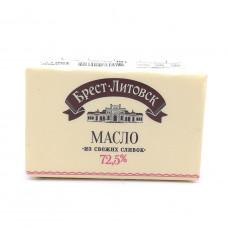 Масло Брест-Литовск сладкосливочное несоленое 72,5%, 180 гр