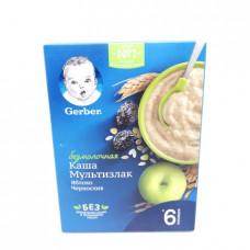 Каша Gerber Безмолочная Мультизлаковая с яблоком и черносливом с бифидобактериями 6+ 180гр