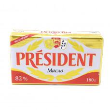 Масло кислосливочное President несоленое 180гр