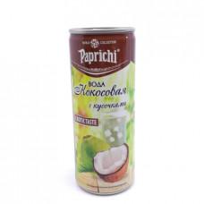 Вода Кокосовая Paprichi с кусочками кокоса 250мл ж/б
