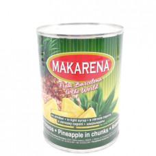 Ананасы Makarena кусочки в сиропе 580,мл