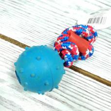 Игрушка Резиновая Мяч на веревке