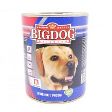 Консервы для собак Big Dog Ягненок с Рисом ж/б 850гр
