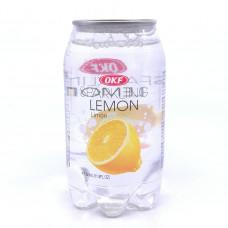 Вода OKF газированная со вкусом лимона, 350 мл