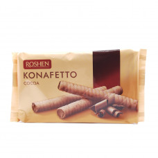 Вафельные трубочки Konafetto cocoa Roshen, 156 гр
