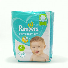 Pampers Подгузники Active Baby Dry Maxi 20