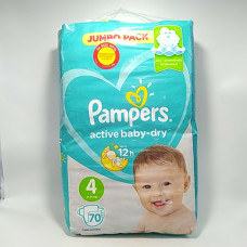 Pampers Подгузники Active Baby Dry Maxi+70