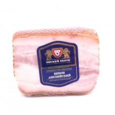 Бекон Английский из свинины Омский бекон, 300 гр в/у