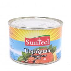 Горбуша натуральная куски Sunfeel, 250 гр