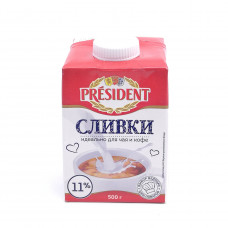 Сливки President 11% 500гр