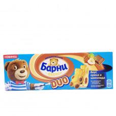 Бисквит Барни DUO с вкусом ореха и шоколада, (5*30), 150гр