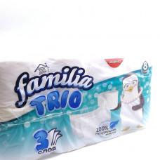 Бумага туалетная Familia Trio 3-х сл. 8 шт