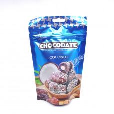Финики CHOCODATE в молочном шоколаде с миндалем со вкусом кокоса 100гр