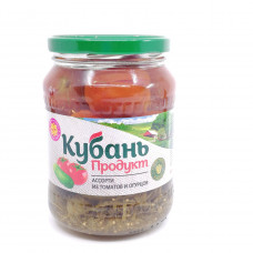 Ассорти (огурцы, помидоры) Кубань Продукт 680 мл ст/б