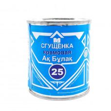 Молоко сгущенное Ак Булак кремовая Маслодел 25%, 350 гр, ж/б