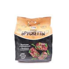 Брускетты ржаные Флинт со вкусом ветчины Прошутто с вяляными томатами 85 гр