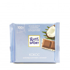 Ritter Sport Кокос Шоколад молочный с кокосовой начинкой, 100 г