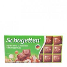 Schogetten Milk Chokolate with Hazelnuts Альпийский молочный шоколад с фундуком, 100 г