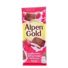 Шоколад Alpen Gold клубника с йогуртом, 100г