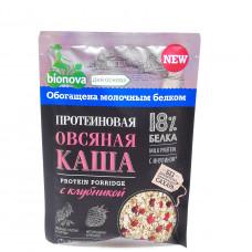 Каша протеиновая Бионова Овсяная с клубникой 40гр