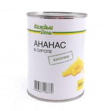 Ананасы Каждый день кусочки в сиропе 580 г ж/б