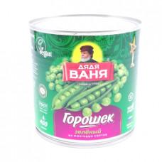 Горошек Дядя Ваня зеленый, 400 гр ж/б