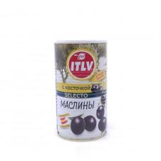 Маслины ITLV черные с косточкой 370 гр