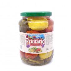 Ассорти (помидоры, патиссоны и огурцы) Primario 720 мл ст/б