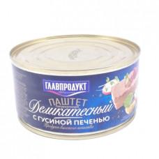 Паштет Главпродукт деликатесный с гус печенью 315гр