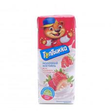Коктейль молочный Топтыжка клубника 3.2%, 200мл