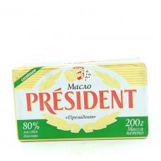 Масло President кислосливочное солёное 80%, 200г