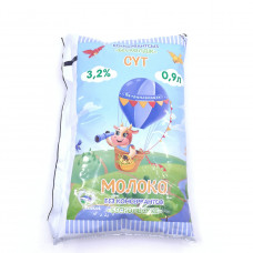 Молоко Бескольское стерилизованное, 3.2% 0.9л