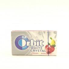 Жевательная резинка Orbit White Cristal клубника — банан, 15.6г