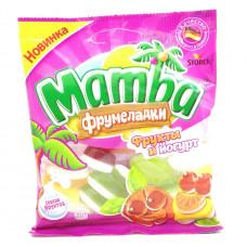 Мармелад Mamba Фрумеладки жевательный фрукты и йогурт, 60г