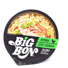 Лапша Big Bon курица соус Сальса 85 гр контейнер