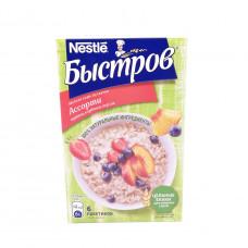 Каша овсяная Быстров ассорти клубника-персик-черника с молоком 240 гр (40гр*6 шт)